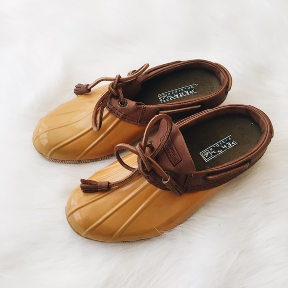 Sperry Shoes   S Yellow Slip On Duck